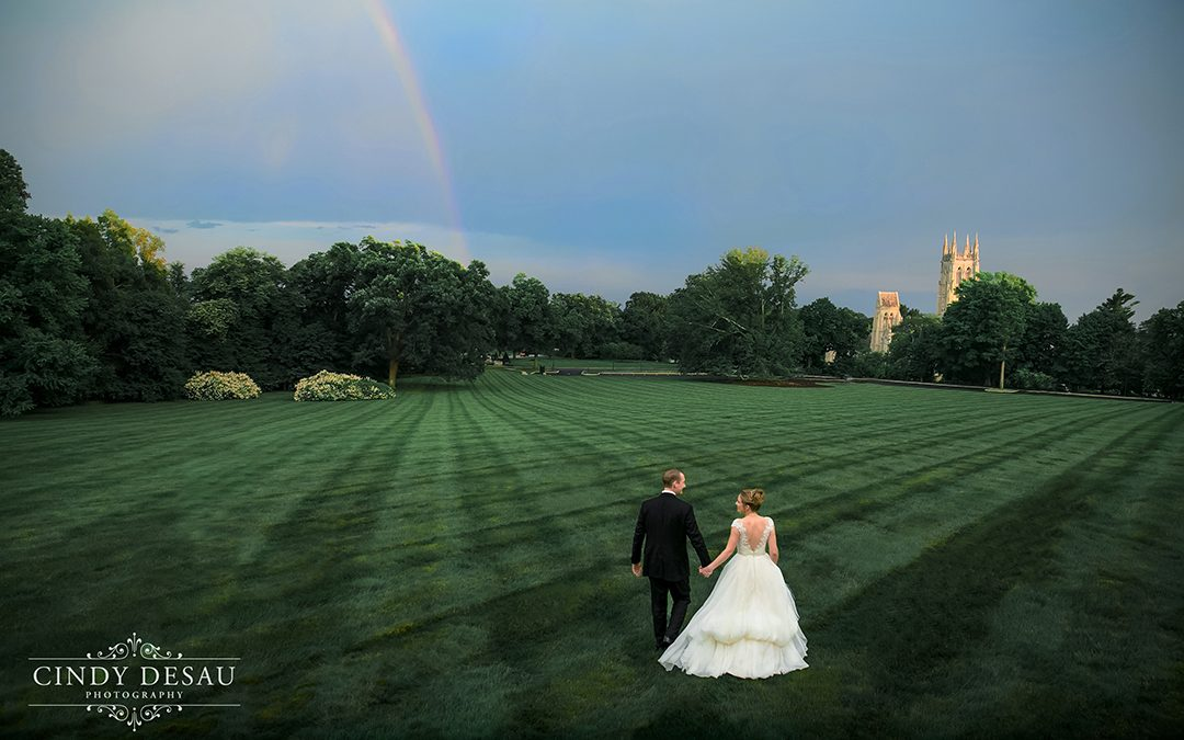 Cairnwood Reception Rainbow in Bryn Athyn